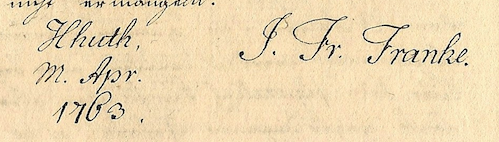 Franke signature