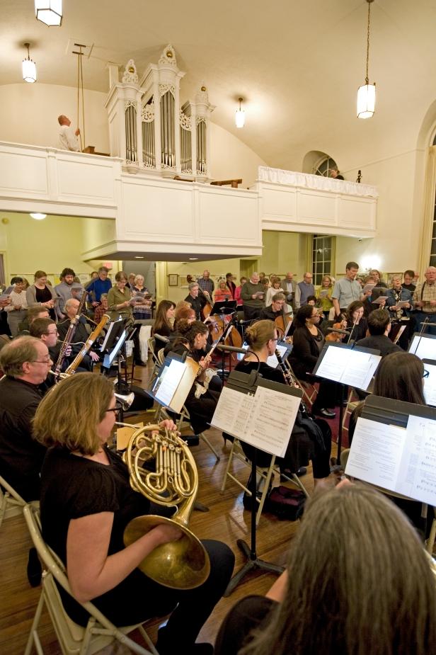 Collegium Musicum-Lower Vertical View through French Horns_13